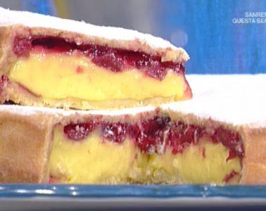 torta pasticciotto con crema e amarena di Sal De Riso