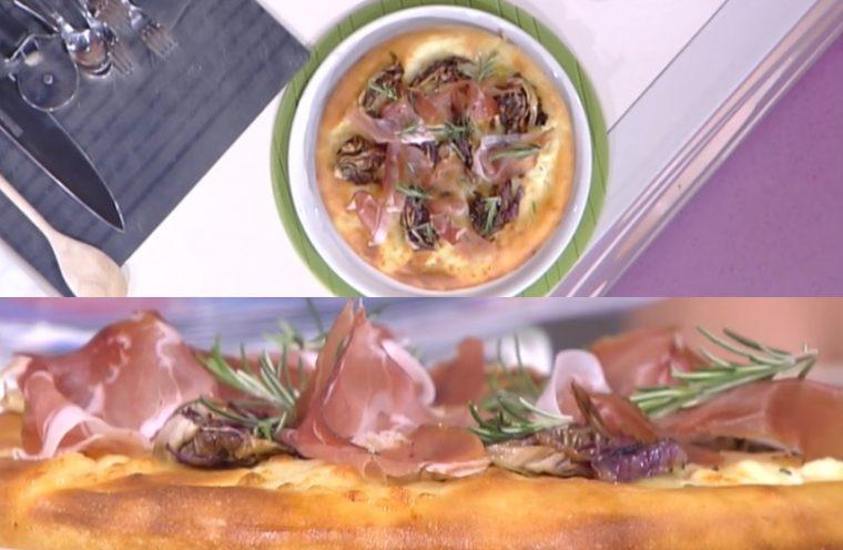 pizza bufala radicchio e speck
