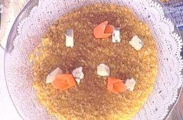 risotto con estratto di carote e toma blu di Sergio Barzetti