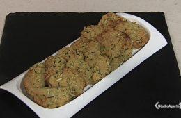 frittelle di zucchine e formaggio al forno