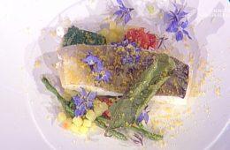 merluzzo con asparagi e borragine di Gianfranco Pascucci