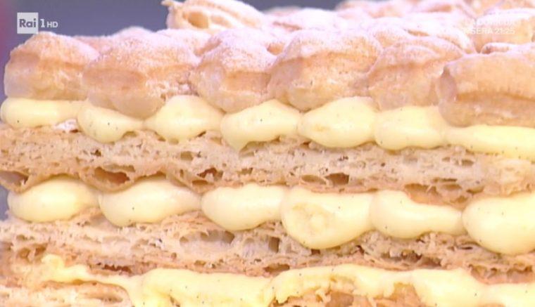 millefoglie alla vaniglia e gocce di cioccolato di Sal de Riso