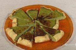 torta salata feta piselli e menta