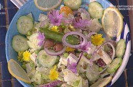insalata greca con salsa allo yogurt