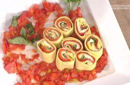 rotolo freddo di pasta e peperoni di Luisanna Messeri