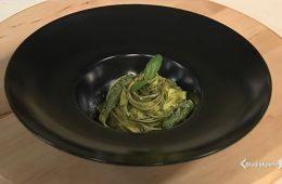 tagliatelle al pesto di asparagi