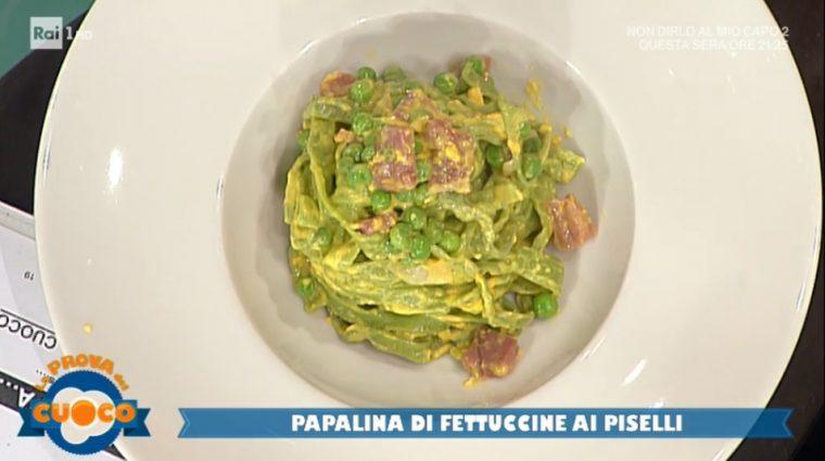 papalina di fettuccine ai piselli di Paolo Cacciani