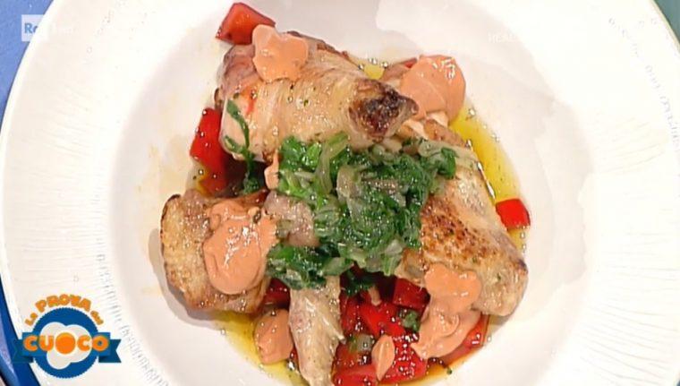 La prova del cuoco ricetta pollo ai peperoni in salsa d for Piatto tipico romano