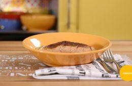 salmone con edamame e cacao