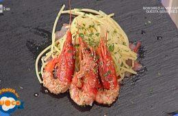 spaghetti all'olio piccante con doppio gambero di Anna Maria Palma