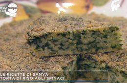 torta di riso agli spinaci