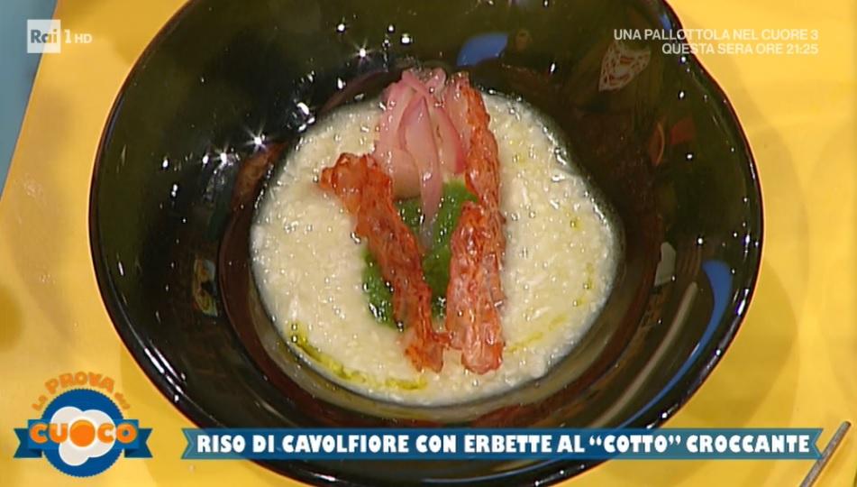 riso di cavolfiore al cotto croccante di Stefania Grandinetti