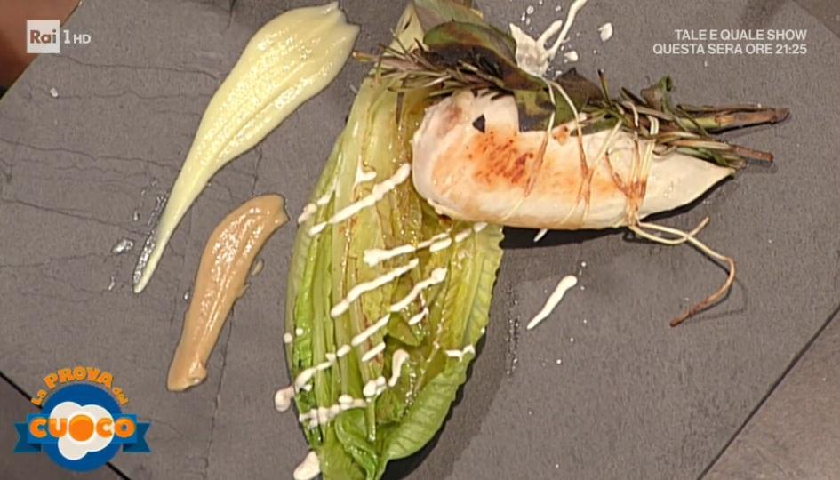 pollo grigliato su lattuga in salsa d'acciughe di Viviana Lapertosa