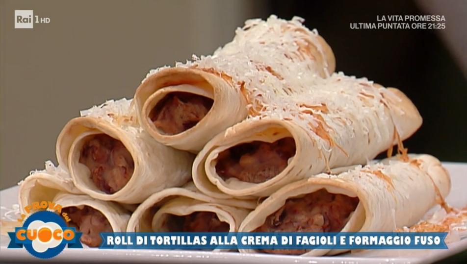 roll di tortillas alla crema di fagioli di Gabriele Faggionato