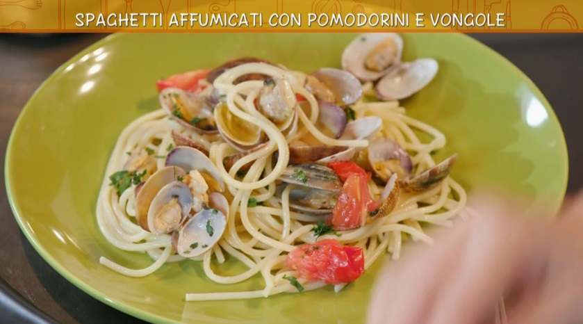 spaghetti affumicati e frittata di pasta
