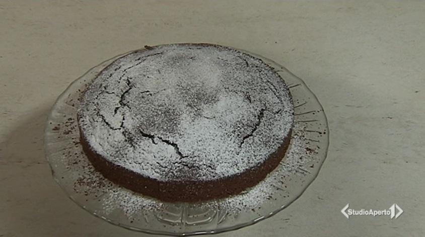 torta di cioccolato e castagne