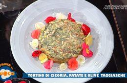 tortino di cicoria patate e olive con maionese senza uova di Daniele Paralovo