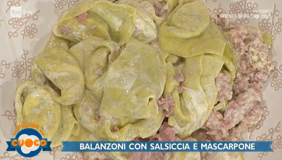 balanzoni con salsiccia e mascarpone di Alessandra Spisni