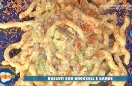 busiati con broccoli e sarde di Natale Giunta