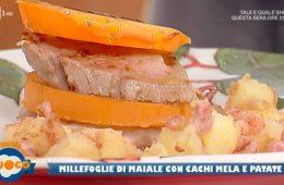 millefoglie di maiale con cachi mela e patate di Anna Maria Palma