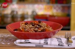 farro con peperoni ed olive