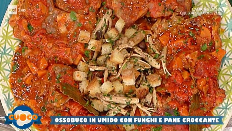 ossobuco in umido con funghi e pane croccante di Emilio Signori