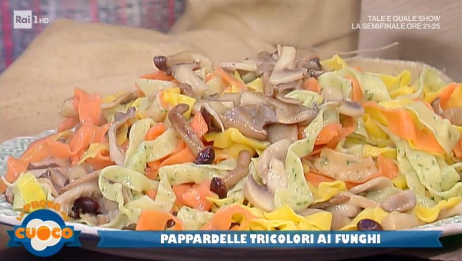 pappardelle tricolori ai funghi di Alessandra Spisni