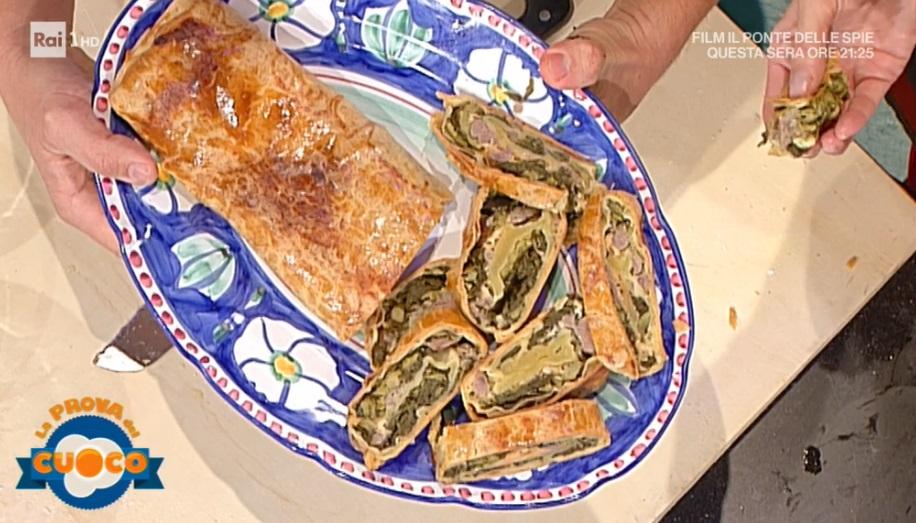 strudel salato con salsiccia e cime di rapa di Simone Ferri Graziani