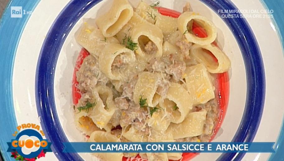 calamarata con salsicce e arance di Fabio Campoli