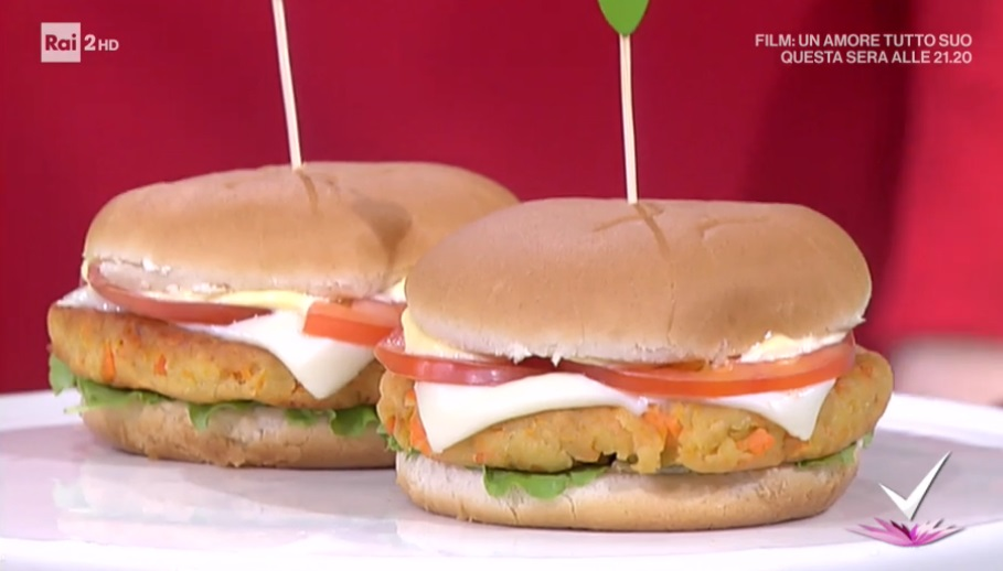 hamburger di ceci e carote