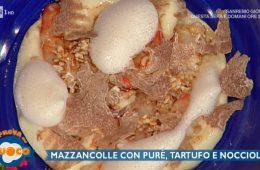 mazzancolle con purè tartufo e nocciole di Gianfranco Pascucci