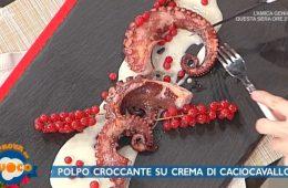 polpo croccante su crema di caciocavallo di Clara Zani