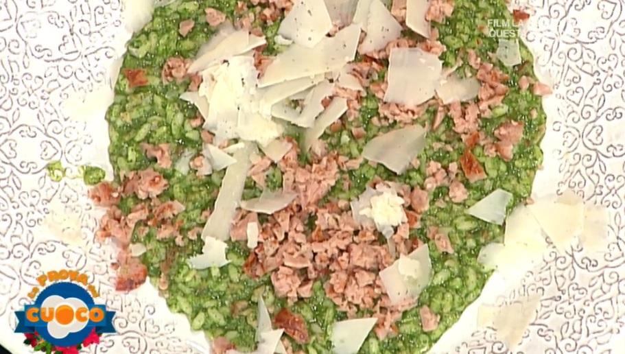 risotto con crema di bietole e salsiccia di Marco Bottega