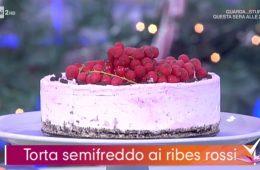 torta semifreddo ai ribes rossi