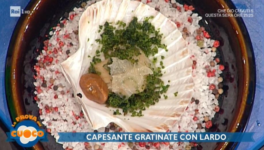 capesante gratinate con lardo di Gianfranco Pascucci