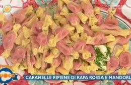 caramelle ripiene di rapa rossa e mandorle di Alessandra Spisni