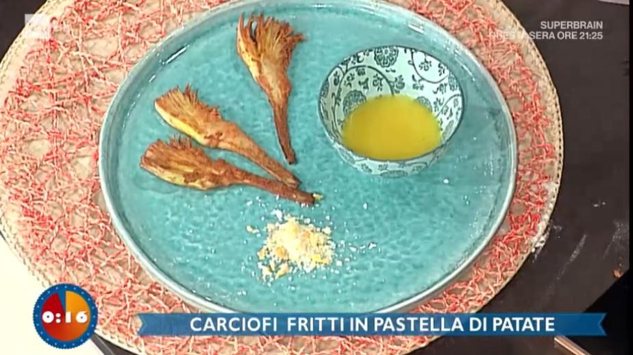 carciofi fritti in pastella di patate di Riccardo Facchini
