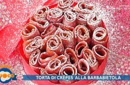 torta di crepes alla barbabietola di Diego Bongiovanni