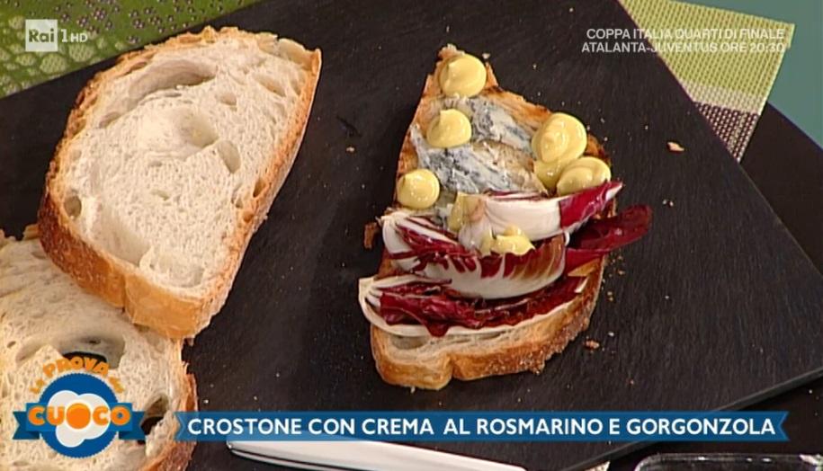 crostone con crema al rosmarino e gorgonzola di Clara Zani