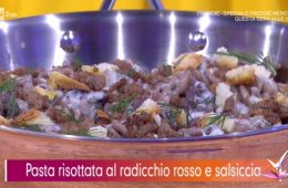 pasta risottata al radicchio e salsiccia di Andrea Mainardi