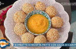 bombette di ricotta fritte con salsa di carote di Diego Bongiovanni
