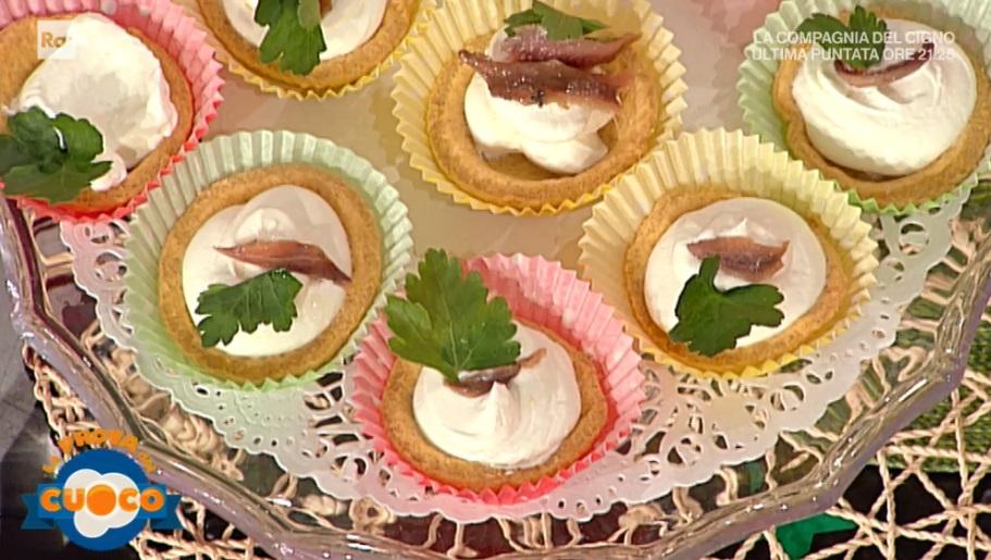 tartellette al peperoncino con spuma di robiola di Clara Zani