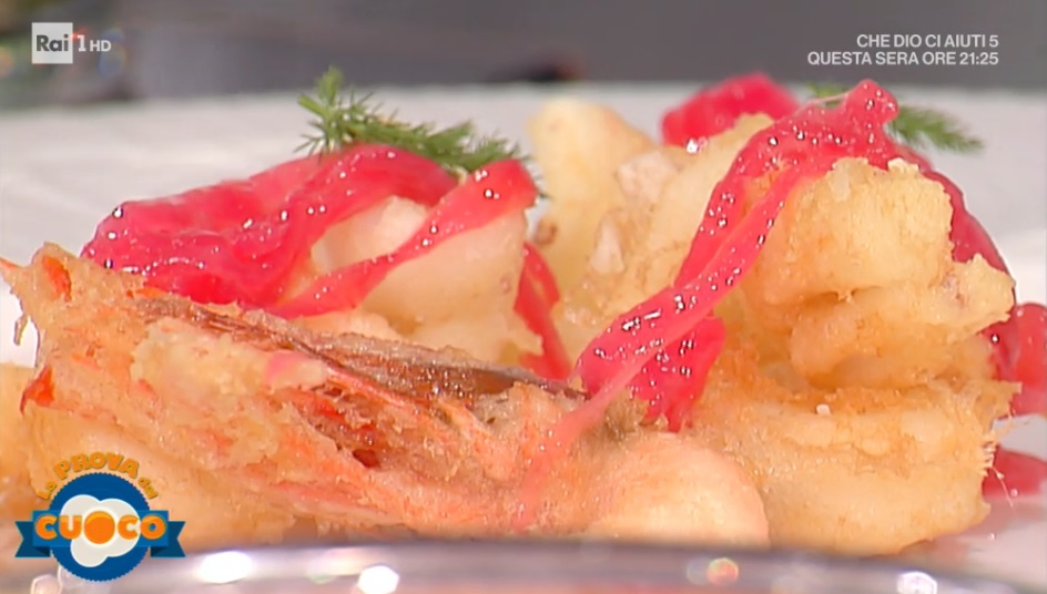 tempura di calamari con composta di cipolle e arancia di Gianfranco Pascucci