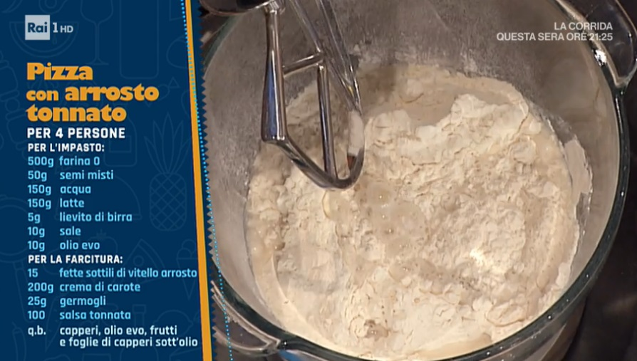 pizza soffice con arrosto tonnato di Renato Bosco