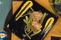 pollo con asparagi e salsa allo zafferano di Clara Zani