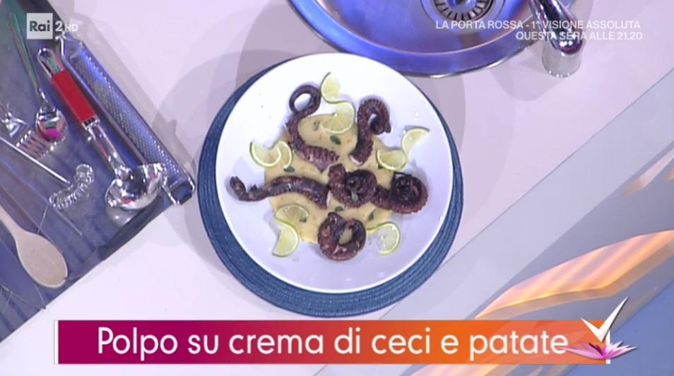 polpo su crema di ceci e patate di Daniele Persegani