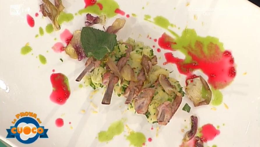 scottadito con patate carciofi e asparagi di Marco Bottega