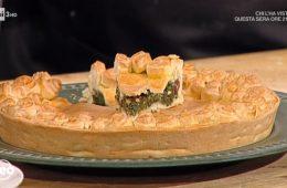 torta salata con erbette pecorino e olive di Natalia Cattelani