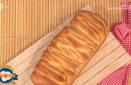 pane a fisarmonica con salame e caciotta di Natalia Cattelani