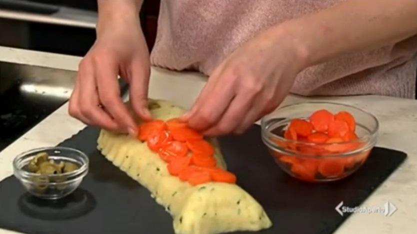 finto pesce di patate e sgombro